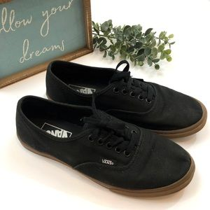 Vans Black Canvas Lace-Up Shoes